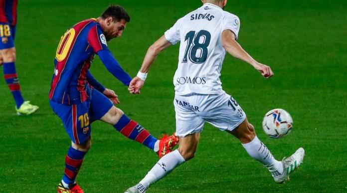 Gol Lionel Messi versus Huesca, 15 Maret 2021