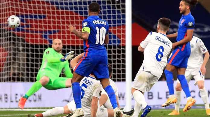Gol Raheem Sterling vs San Marino, kualifikasi Piala Dunia