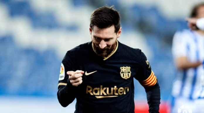 Hasil Real Sociedad vs Barcelona di Liga Spanyol Lionel Messi memecahkan Rekor