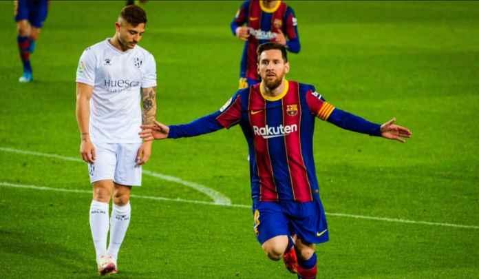 Lionel Messi Tetapkan Dua Rekor Baru Usai Cetak Dua Gol ke Gawang Huesca