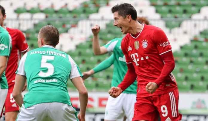 Lewandowski menempati urutan kedua dalam daftar pencetak gol terbanyak Bundesliga sepanjang masa