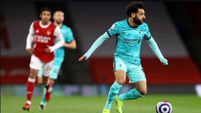 Hasil Liga Inggris - Hasil Arsenal vs Liverpool - Diogo Jota Mohamed Salah