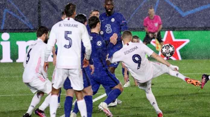 Tendangan Setengah Salto Karim Benzema Samakan Kedudukan 1-1 Lawan Chelsea