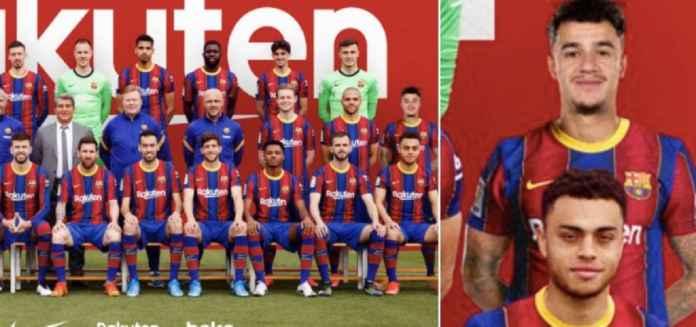 Kasihan Coutinho, Fotonya di Tim Barcelona Musim 2020/21 Cuma Photoshop!