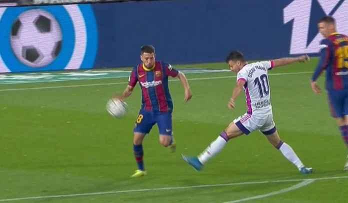Keputusan Wasit Tidak Beri Penalti Valladolid Atas Handball Jordi Alba Sudah Benar