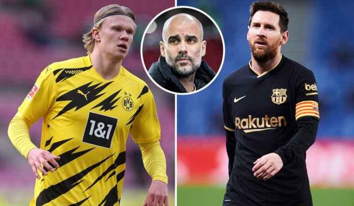 Lionel Messi Sudah Tua, Man City Kini Lebih Prioritaskan Transfer Erling Haaland