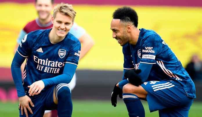 Arsenal vs Fulham : Pierre-Emerick Aubameyang & Martin Odegaard Dipastikan Absen