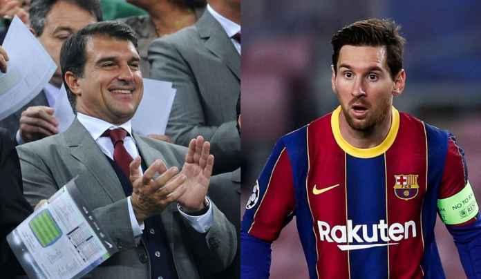 Joan Laporta Optimis Lionel Messi Bakal Perpanjang Kontrak Baru di Barcelona
