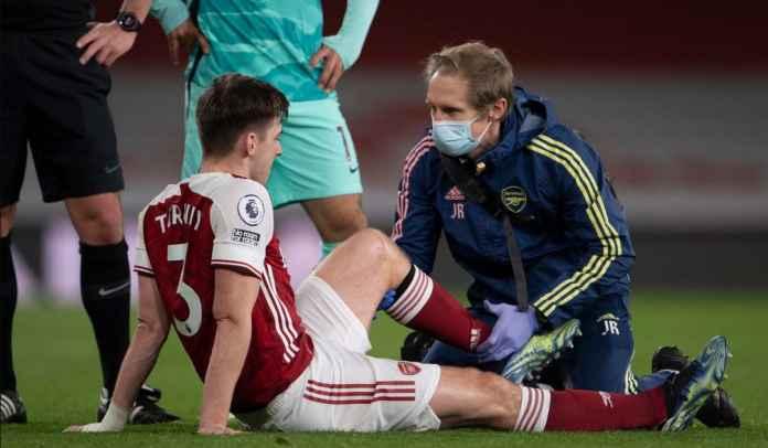 Cedera Ligamen Lutut, Bek Arsenal Kieran Tierney Terancam Absen Enam Pekan