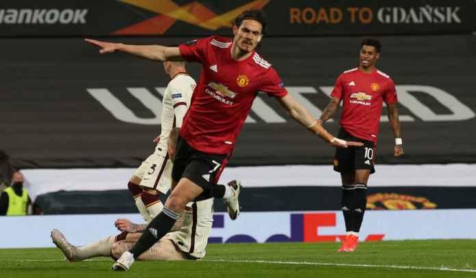 Cavani, Bruno & Greenwood Bermandikan Rekor Usai Bantu Man Utd Bantai Roma 6-2