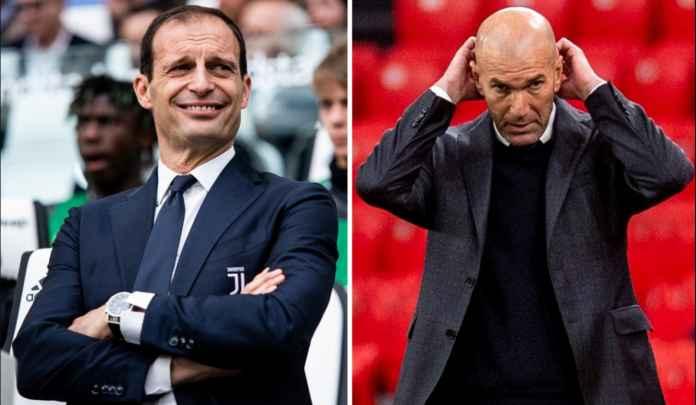 Bursa Manajer : Zidane Resmi Tinggalkan Real Madrid, Allegri Kembali ke Juventus