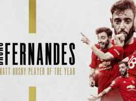 Bruno Fernandes Pemain Kelima Menangi Penghargaan Pemain Terbaik Man Utd Beruntun