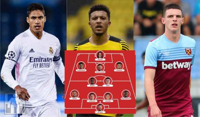Sancho, Rice, & Varane Datang? Ini Calon Formasi Ngeri Man Utd Musim Depan