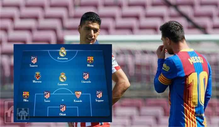Starting XI Terbaik La Liga Musim 2020/2021 : Messi, Benzema, Suarez & Lainnya