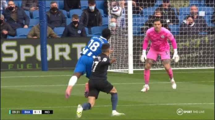 Gol Menit 2 Bikin City Ungguli Brighton 0-1, Tapi Joao Cancelo Kartu Merah Menit 10