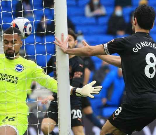 Hasil Liga Inggris: Sudah Pencetak Gol Guendogan Cedera, Man City Kalah Pula 3-2 di Brighton