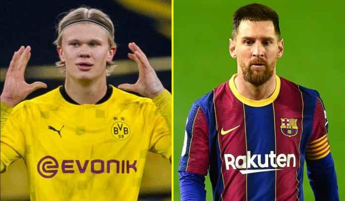 Barcelona Prioritaskan Transfer Erling Ketimbang Pertahankan Lionel Messi, Sudah Tua!