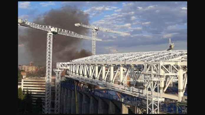 Kebakaran di Kandang Real Madrid, Santiago Bernabeu, Sudah Berhasil Dipadamkan