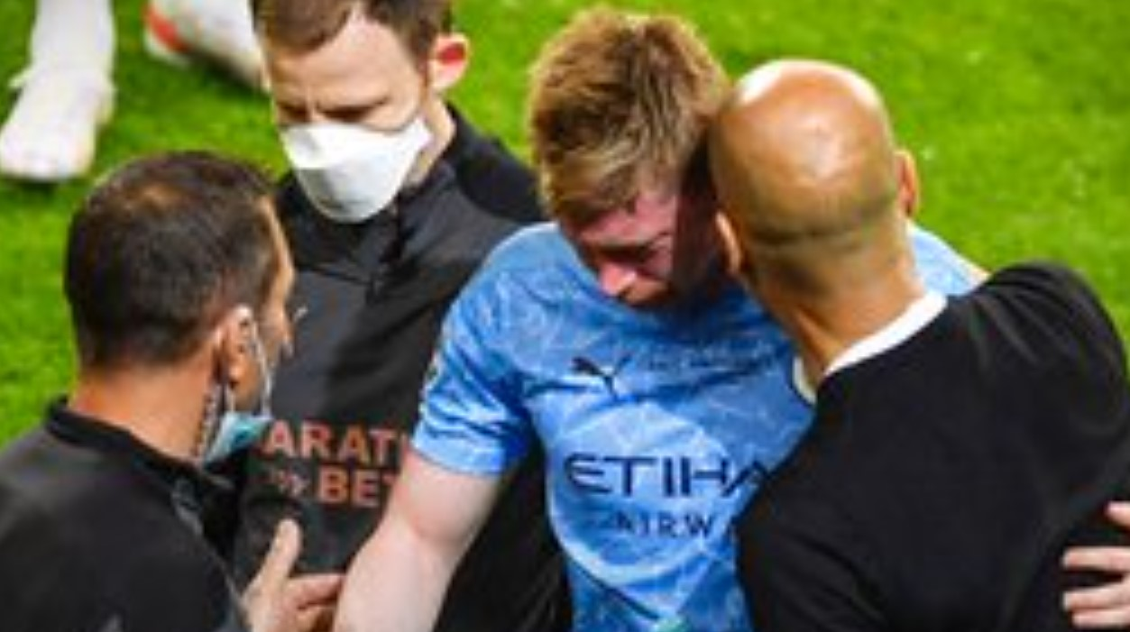 Kevin de Bruyne Cedera di laga Final Liga Champions