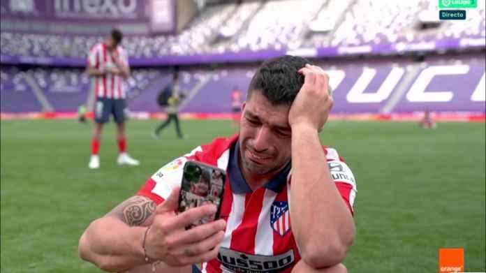 Lihat Luis Suarez Menangis Setelah Pastikan Atletico Juara, Pelampiasan Emosi Usai Dibuang Barcelona