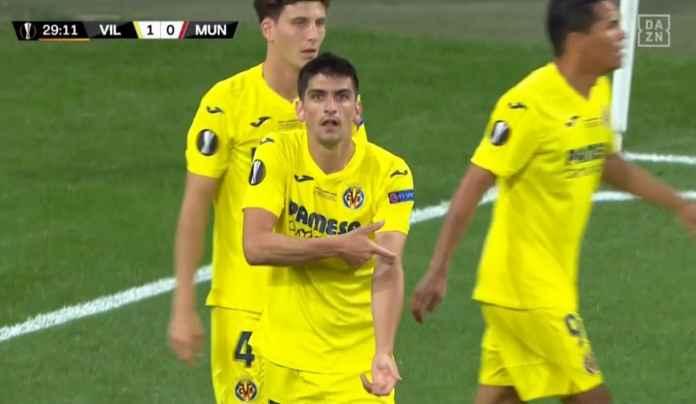 Ada Kampanye Vaksininasi Covid-19 Dalam Selebrasi Gol Moreno di Final Liga Europa