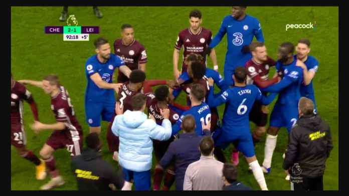 Perkelahian Massal Belasan Pemain Akhiri Pertandingan Chelsea vs Leicester Tadi Malam