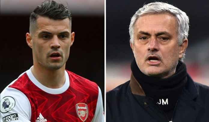 Direkomendasikan Jose Mourinho, AS Roma Kejar Gelandang Arsenal Granit Xhaka