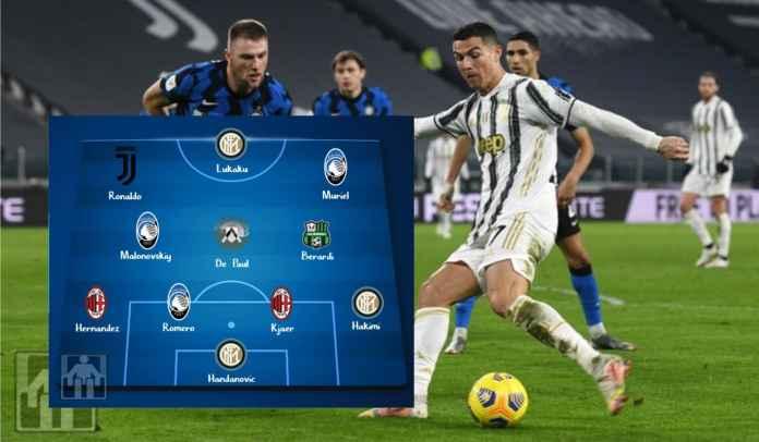 Starting XI Terbaik Serie A Musim 2020/2021 : Ronaldo, Lukaku, Malinovskiy & Lainnya