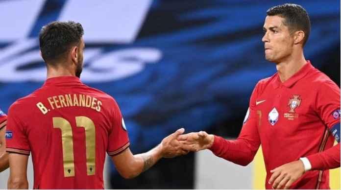 Akhirnya Portugal Berhasil Menang Juga Atas Israel, Bruno dan Ronaldo Cetak Gol