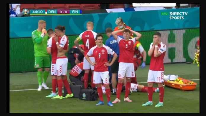 Christian Eriksen Sepertinya Henti Jantung, Denmark vs Finlandia Dihentikan