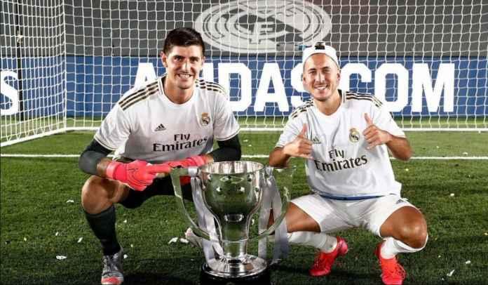 Thibaut Courtois Tegaskan Eden Hazard 100 Persen Bertahan di Real Madrid