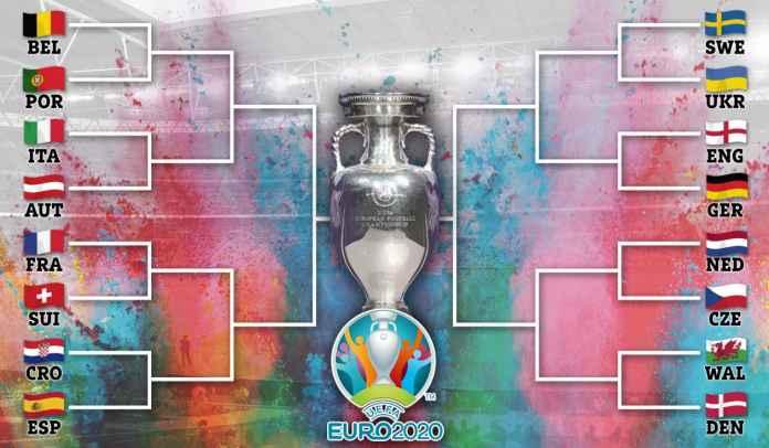 Portugal vs Italia & Prancis vs Spanyol di Perempat Final, Ini Rute Perjalanan ke Final Euro 2020