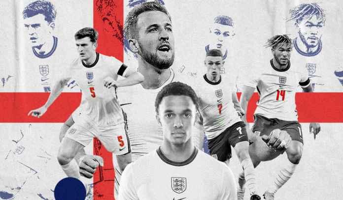 Ini Nomor Punggung Pemain Inggris di Euro 2020, Kode Siapa Saja Bakal Jadi Starter?