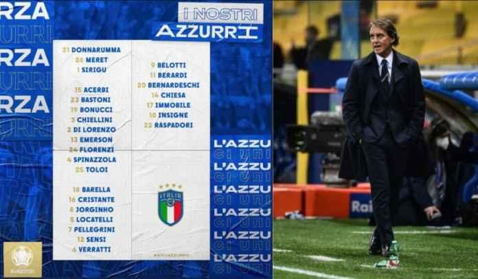 Timnas Italia Umumkan Skuad 26 Pemain Untuk Euro 2020, Ada Beberapa Kejutan