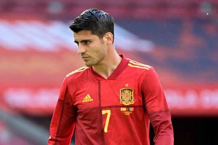 Morata Dibela Usai Gagal Cetak Gol Kontra Portugal