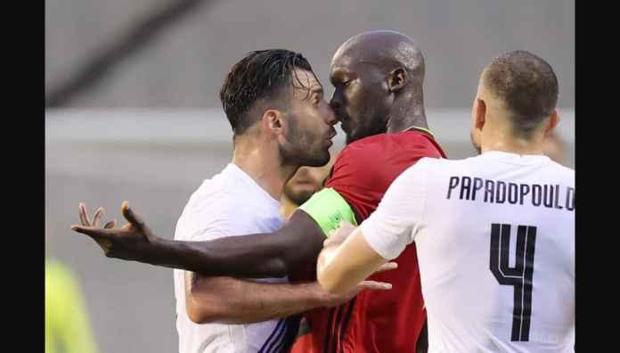 Lihat Romelu Lukaku Nyaris Berkelahi Tadi Malam Melawan Pemain Yunani Ini