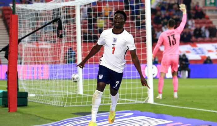 Cetak Gol Perdana Untuk Timnas Inggris, Saka Samai Rekor Walcott & Chamberlain