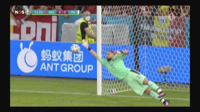 Tadi Kiper Swiss, Kini Donnarumma Bikin Laga Belgia vs Italia Masih Terjaga 1-2