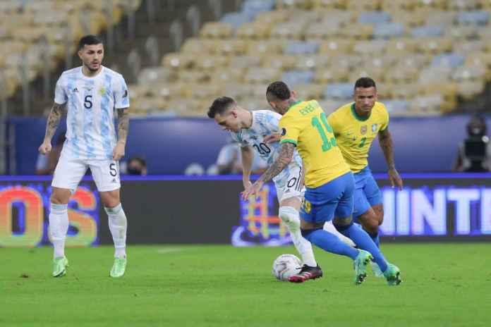 Hasil Argentina vs Brasil di Copa America 2021: Tim Samba Keok Lewat Gol Angel Di Maria Cetak Gol, Messi Girang!