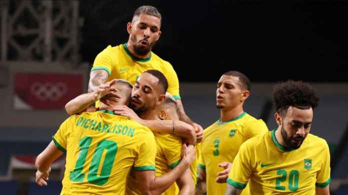 Hasil Brasil vs Mesir: Matheus Cunha Cetak Gol Keduanya di Olimpiade Tokyo, Loloskan Selecao ke Semifinal