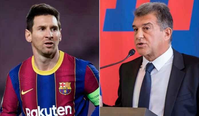 Joan Laporta Update Situasi Perpanjangan Kontrak Lionel Messi di Barcelona