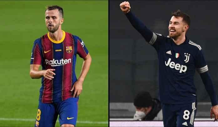 Ingin Pulangkan Miralem Pjanic, Juventus Tawarkan Aaron Ramsey ke Barcelona