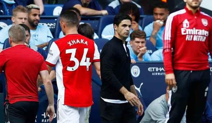 Mikel Arteta Akui Marah Atas Kartu Merah Granit Xhaka, Kecewa Lihat Pertahanan Arsenal