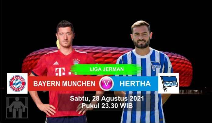 Prediksi Bayern Munchen vs Hertha Berlin, Pekan Ketiga Liga Jerman, Sabtu 28 Agustus 2021