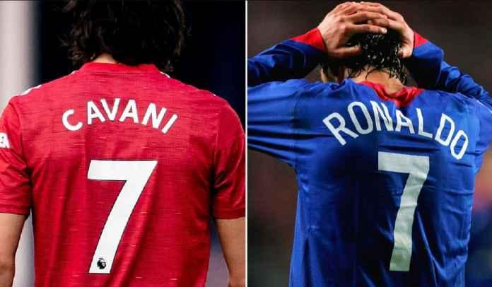 No 7 Dipakai Edinson Cavani, Berapa Nomor Jersey Manchester United Cristiano Ronaldo?