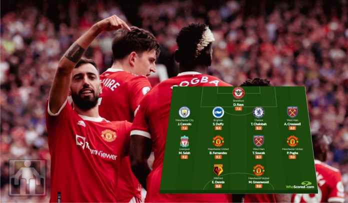 Kesebelasan Terbaik Liga Inggris Pekan Perdana, Tiga Pemain Man Utd Masuk Daftar