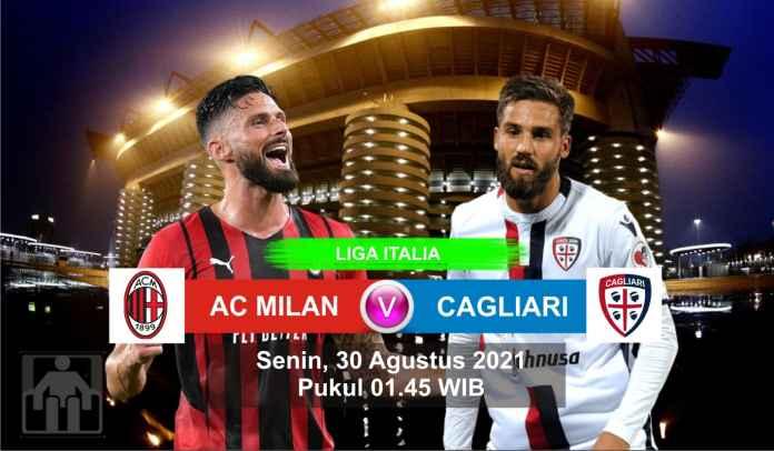Prediksi AC Milan vs Cagliari, Pekan Kedua Liga Italia, Senin 30 Agustus 2021