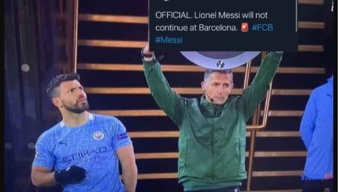 Kasihan Sergio Aguero, Jauh-jauh Datang Dari City, Eh Messi Malah Pergi