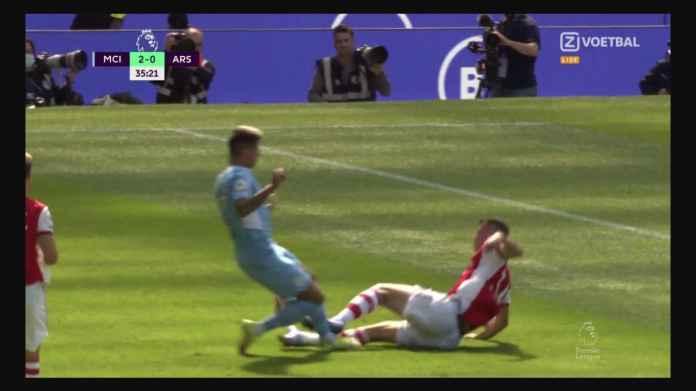 Man City vs Arsenal Mau Usai Berapa Nih? 5-0? Posisi Sudah 3-0 dan Granit Xhaka Kartu Merah