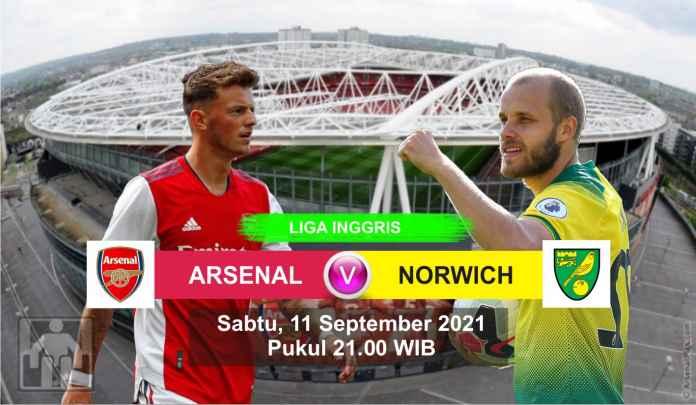 Prediksi Arsenal vs Norwich City, Pekan Keempat Liga Inggris, Sabtu 11 September 2021